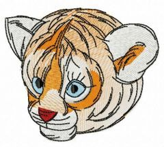 Tiger cub muzzle embroidery design