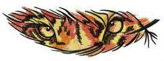 Tiger feather embroidery design