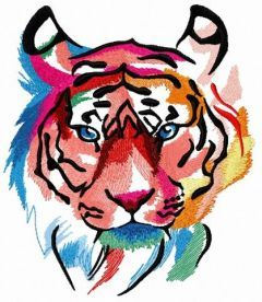Tiger in my mind 2 embroidery design