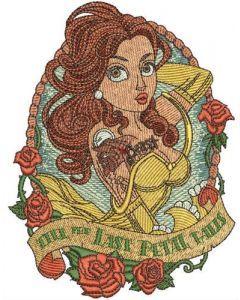 Till the last petal falls embroidery design