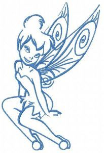 Tinkerbell 15 embroidery design