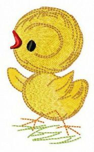 Tiny chicken embroidery design
