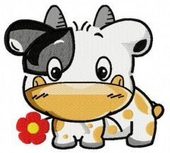 Tiny cow machine embroidery design