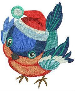 Tiny santa hat for birdie embroidery design