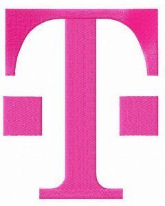 T-Mobile alternative logo embroidery design