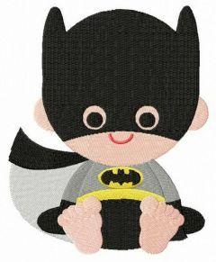 Toddler Batman embroidery design