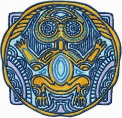 Totem embryo embroidery design