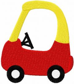 Toy car free embroidery design