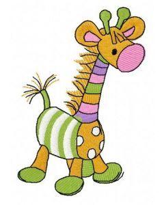 Toy giraffe embroidery design