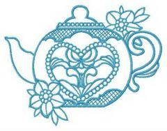 Toy teapot embroidery design