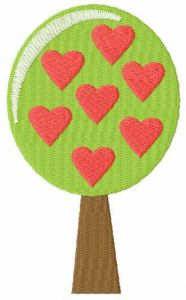 Tree of love embroidery design