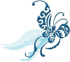 Tribal butterfly 3 embroidery design