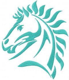 Tribal horse 7 embroidery design