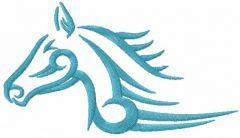 Tribal horse 6 embroidery design
