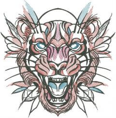 Tribal tiger 3 embroidery design