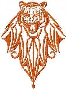Tribal tiger 5 embroidery design