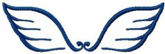 Tribal wings 1 embroidery design