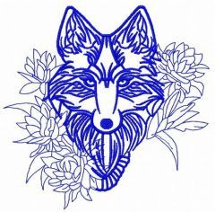 Tribal wolf machine embroidery design 5