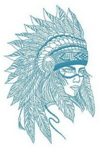 Tribal woman embroidery design