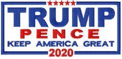 Trump Pence 2020 embroidery design