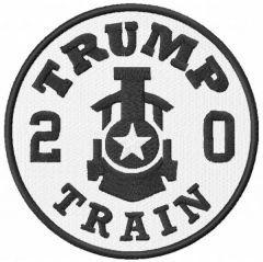 Trump train 2020 embroidery design