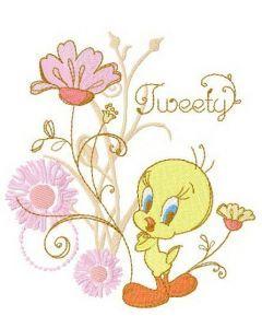 Tweety spring mood embroidery design