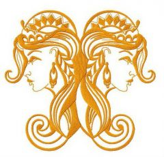 Twins embroidery design 3