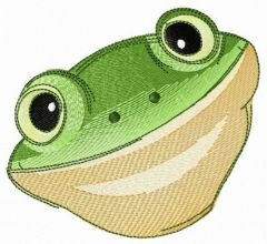 Tyler's tree frog embroidery design