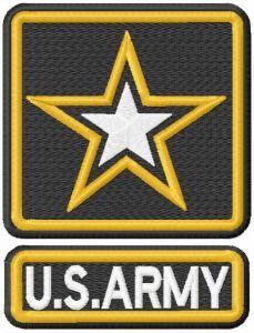 U.S. Army embroidery design