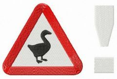 Untitled Goose Game logo embroidery design