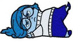 Upset Sadness embroidery design