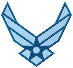 USA Air Force logo embroidery design