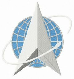 United States Space Force alternative logo embroidery design