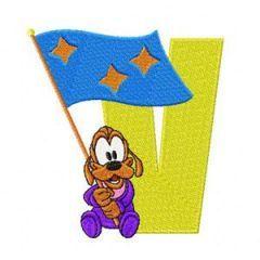 Pluto V Victory embroidery design