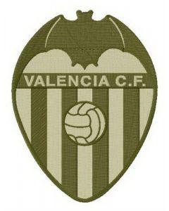 Valencia CF alternative logo embroidery design