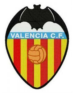 Valencia CF logo embroidery design