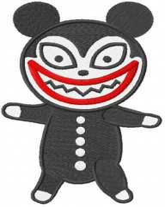 Vampire toy embroidery design