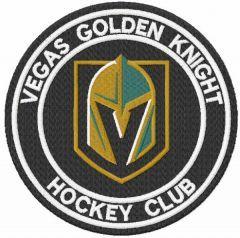 Vegas Golden knight hockey club embroidery design