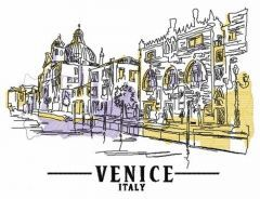 Venice Italy embroidery design