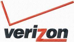 Verizon logo embroidery design