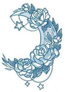 Vernal moon 2 embroidery design