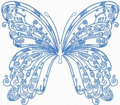 Vintage butterfly embroidery design