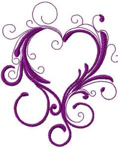 Vintage heart 2 embroidery design