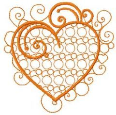 Vintage heart 3 embroidery design