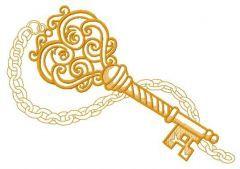 Vintage key 2 embroidery design