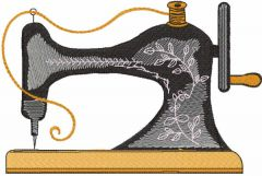 Vintage old sewing embroidery design