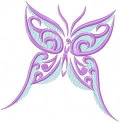 Violet butterfly 2 embroidery design