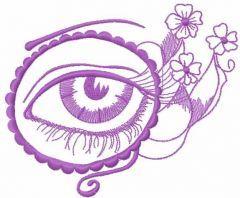 Violet eye embroidery design