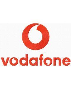 Vodafone logo embroidery design