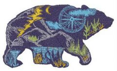 Wandering bear embroidery design